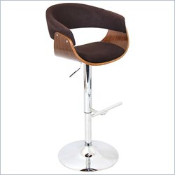 Lumisource Vintage Mod Barstool in Walnut and Espresso