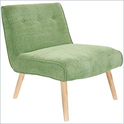 Lumisource Vintage Neo Tuffed Accent Chair in Green