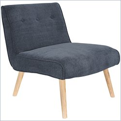 Lumisource Vintage Neo Tufted Accent Chair in Blue