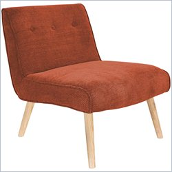 Lumisource Vintage Neo Tufted Accent Chair in Orange