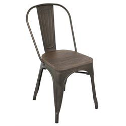 Lumisource Oregon Dining Chair in Espresso (Set of 2)