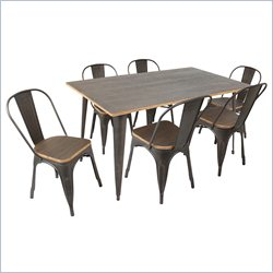 Lumisource Oregon Dining Set