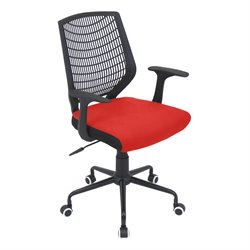 Office Chair in Red and Black