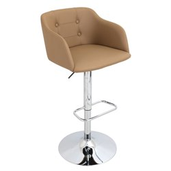 Adjustable Bar Stool in Camel