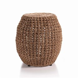 Zodax Knotted Weave Barrel Stool in Natural