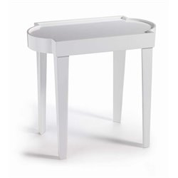 Zodax Leeza Laquer Side Table in White