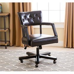 Abbyson Living Martha Office Chair in Dark Brown