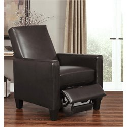 Tessa Pushback Bonded Leather Recliner