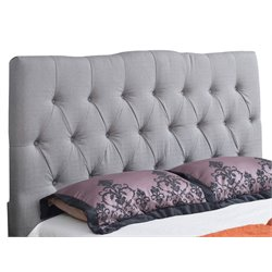 Abbyson Living Aspen Upholstered Linen King Panel Headboard in Gray