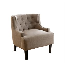 Chloe Dark Tufted Armchair