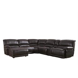 Abbyson Living Denver 6 Piece Sectional in Brown