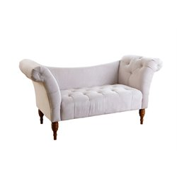 Savannah Tufted Velvet Settee