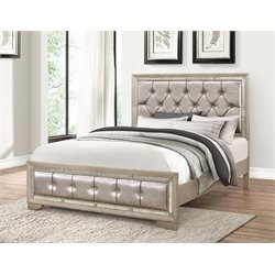 Grayson Mirrored Leather Bed