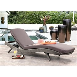 Arthur Outdoor Wicker Chaise Lounge