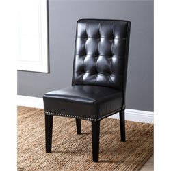 Hudson Leather Nailhead trim Dining Chair