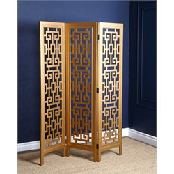 Abbyson Living Micah 3 Piece Folding Screen in Gold