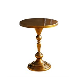 Abbyson Living Wesley Round End Table in Gold