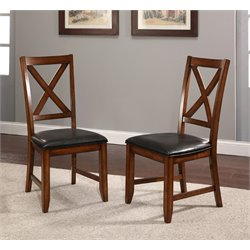 Abbyson Living Leonard Acacai Dining Chairs in Espresso (Set of 2)