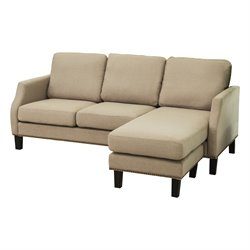 Abbyson Living Franklin Reversible Sectional in Light Gray