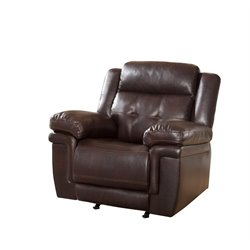 Abbyson Living Paulo Rocker Recliner in Brown