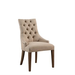 Abbyson Living Parker Upholstered Dining Chair in Wheat