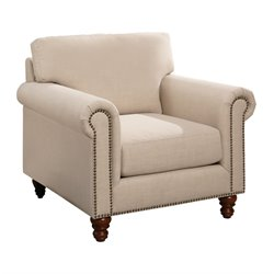 Abbyson Living Liza Accent Chair in Ivory
