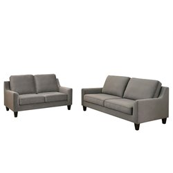 Abbyson Living Penton Sofa Set in Gray-G3