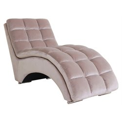 Abbyson Living Grant Fabric Chaise in Beige