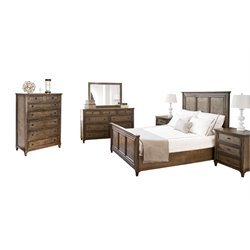 Abbyson Living Westley 6 Piece Panel Bedroom Set-G11