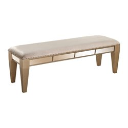 Abbyson Living Francesca Mirrored Bench in Gold