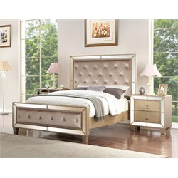 Abbyson Living Francesca 3 Piece Bedroom Set in Gold-L