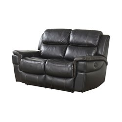 Abbyson Living Tallia Power Reclining Loveseat in Black