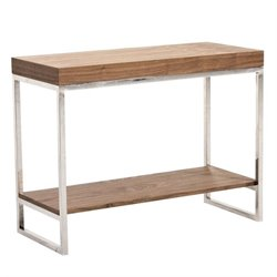 Abbyson Living Newbury Wood Console Table in Walnut