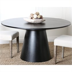Abbyson Living Enna Round Wood Dining Table in Espresso