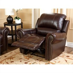 Abbyson Living Hogan Leather Recliner