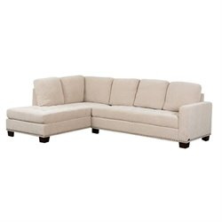 Abbyson Living Macalea Linen Sectional in Cream