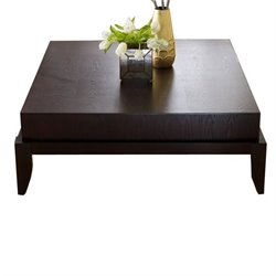 Abbyson Living Maytime Square Wood Coffee Table in Mahogany