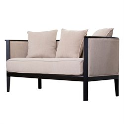 Abbyson Living Adams Morgan Loveseat in Beige