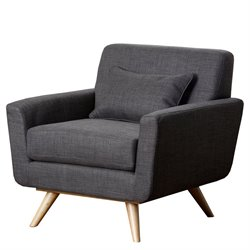 Abbyson Living Bradley Fabric Accent Armchair in Gray