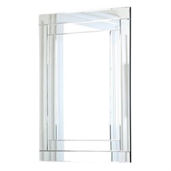 Abbyson Living Tekema Glass and Wood Mirror in Silver