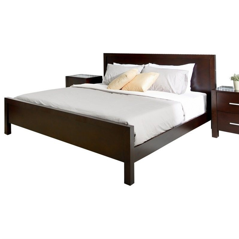 Abbyson Living West Park 4 Piece California King Bedroom Set in Brown