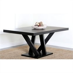 Abbyson Living Celestia Wood Dining Table in Espresso