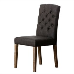 Princeton Tufted Linen Dining Chair