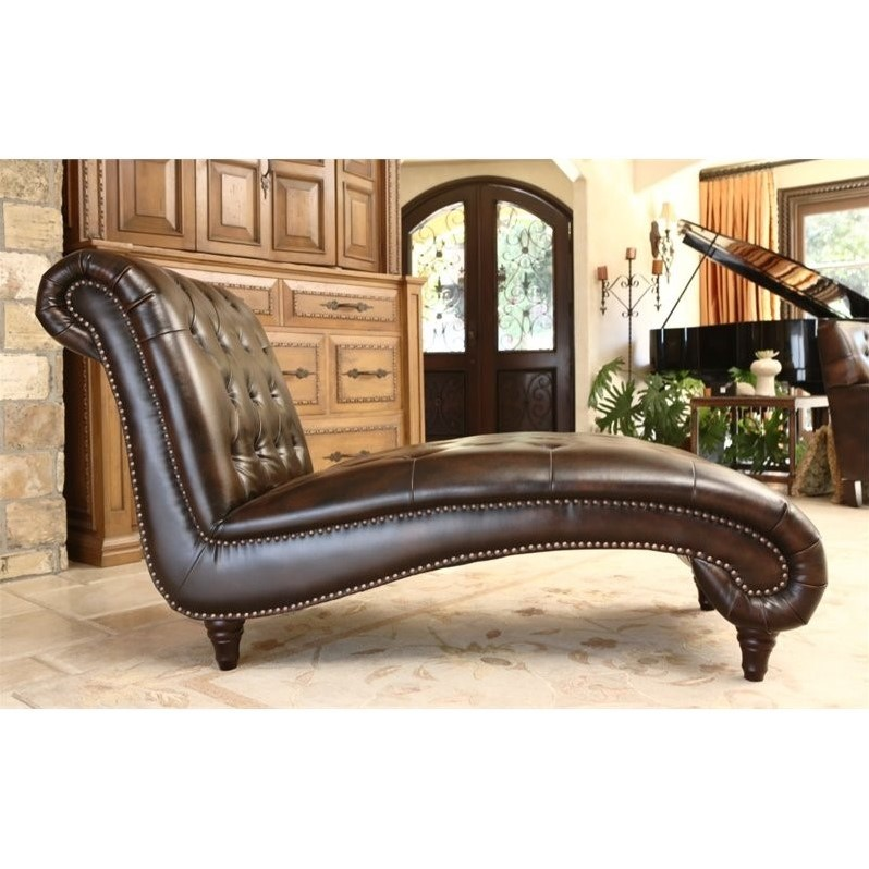Abbyson living mirabello bonded leather chaise lounge in for Abbyson living sedona leather chaise recliner