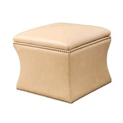 Monica Pedersen Square Leather Storage Ottoman