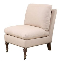 Monica Pedersen Tufted Nailhead Slipper Chair