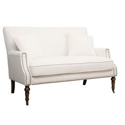Abbyson Living Monica Pedersen Loveseat in Ivory