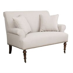 Abbyson Living Monica Pedersen Loveseat in Gray