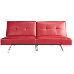 Abbyson Living Riley Leather Convertible Sofa