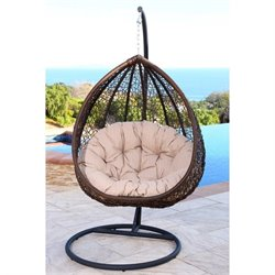 Abbyson Living Sonoma Outdoor Wicker Swing Chair